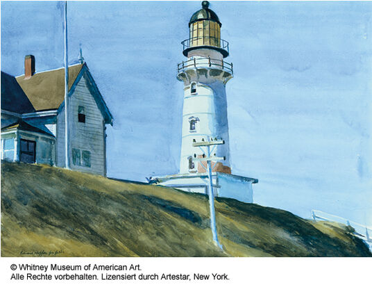 "Edward Hopper: Picture ""Lighthouse at Two Lights"""