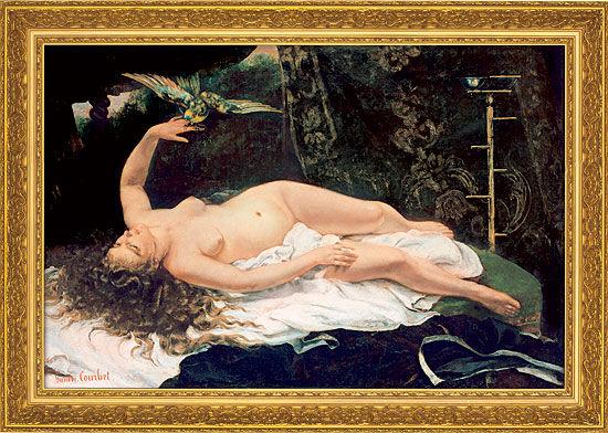 Gustave Courbet: Bild ´Frau mit Papagei´ (1866)...