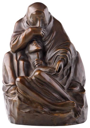 """Käthe Kollwitz: Skulptur """"Pietà"""" (1938/39), Reduktion in Bronze"""