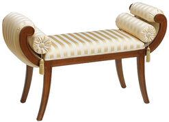 """Fenstersofa """"Royal Style"""" nach klassischem Vorbild, Version kirschbaumfarben"""