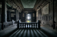 "Bild ""Korridor mit Treppe"""