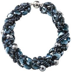 "Perlencollier ""Splendid Blue"""