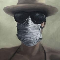 """Bild """"Burning Man #Selfportrait"""" (2017) (Unikat)"""