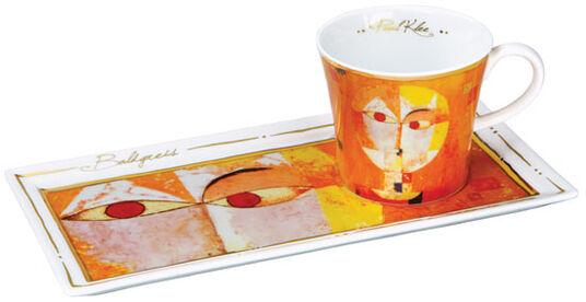 """Paul Klee: Porzellantasse """"Baldgreis"""" mit Golddekor"""