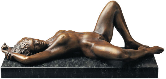 "Peter Hohberger: Sculpture ""Europa"" (1992), Version in Cold Cast Bronze"