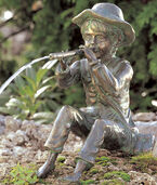 "Water spout ""Toni, the Little Flute Player"", bronze"