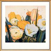 """Bild """"Strauß in gelb"""" (2006), gerahmt"""