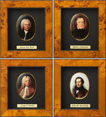 "Miniature Porcelain Pictures ""Great Composers of Music History"""