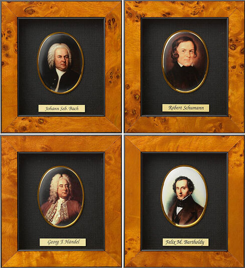 """Miniature Porcelain Pictures """"Great Composers of Music History"""""""
