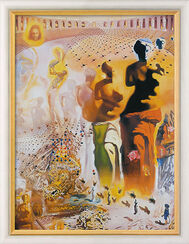 "Painting ""The Hallucinogenic Toreador"" (1968-70) in gallery frame"