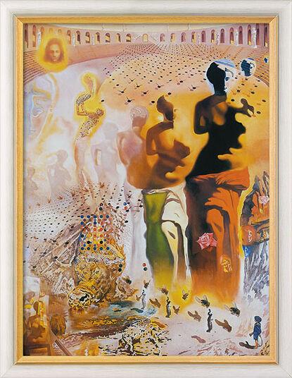 "Salvador Dalí: Bild ""Der halluzinogene Torero"" (1968-70), gerahmt"