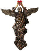 """Wall object """"The Lost Heart"""" (1995), version in artificial bronze"""