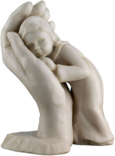 "Dorothea Steigerwald: Sculpture ""Stay his child"" (1963), edition in artificial marble"