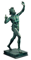 "Sculpture  ""Fauno Danzante - Dancing Faun of Pompeii"" (Reduction), Cast Metal"