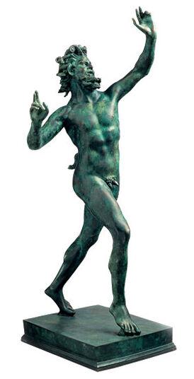 "Sculpture  ""Fauno Danzante - Dancing Faun of Pompeii"" (Reduction), Cast Metal"