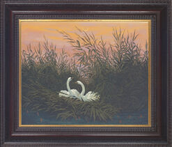 "Picture ""Swans in the reeds"" (around 1820)"
