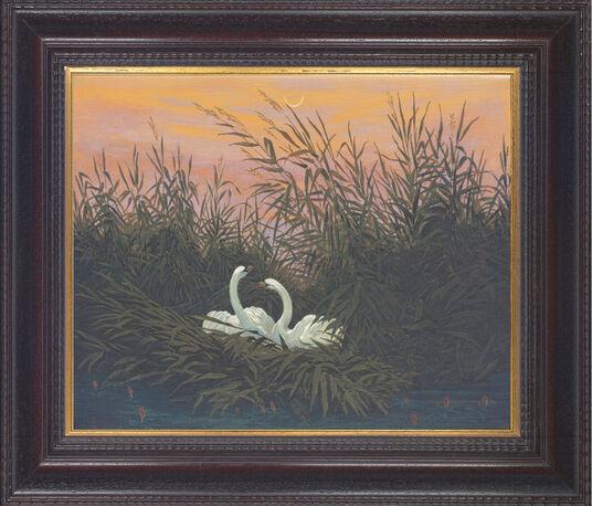 """Caspar David Friedrich: Picture """"Swans in the reeds"""" (around 1820)"""