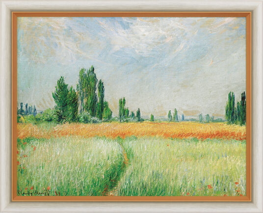 "Claude Monet: Bild ""Weizenfeld"" (1881), gerahmt"