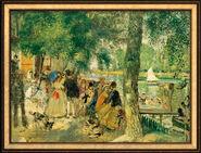 """Bild """"Badende in der Seine"""" (1869), gerahmt"""