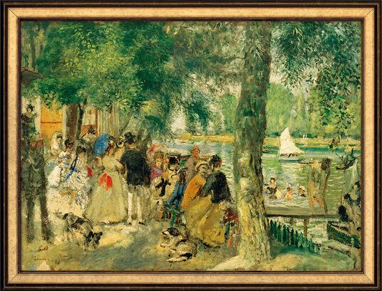 """Auguste Renoir: Bild """"Badende in der Seine"""" (1869), gerahmt"""