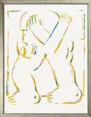 "Bild ""Figur mit gekreuzten Armen"" (1966), gerahmt"