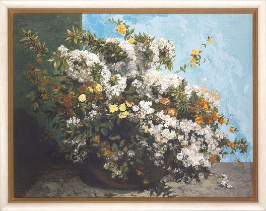 """Gustave Courbet: """"Blumenstillleben"""", gerahmt"""