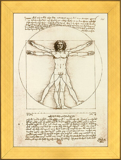 "Leonardo da Vinci: Picture ""proportion scheme of the human figure by Vitruvius"""