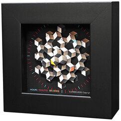 """Zeitkunst-Designuhr """"Hexagon"""", Version als Tischuhr"""
