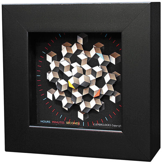 """Zeitkunst-Designuhr """"Hexagon"""", Version als Wanduhr"""