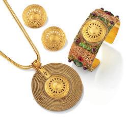 "Jewelry set ""Aton Sun Wheel"""