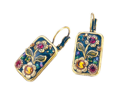 "Michal Golan: Dangle Earrings ""Flower of Florence"""