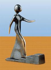 """Skulptur """"Schritt für Schritt"""", Bronze"""