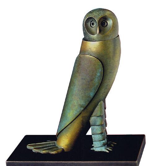 "Paul Wunderlich: Sculpture ""Little Owl"", bronze"