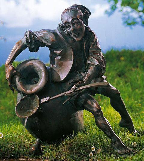 "Roman Strobl d. Ä.: Fountain object ""Gobi"", art bronze version"