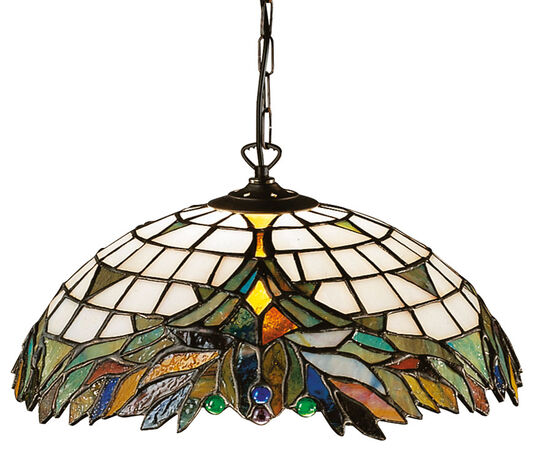 Louis C. Tiffany: Pendant lamp 'Foliage'