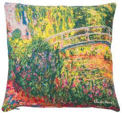 """Kissenhülle """"Japanische Brücke im Garten von Giverny"""" (1900)"""