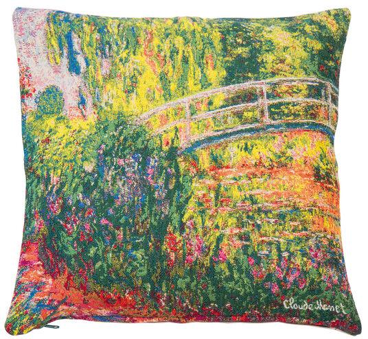 """Claude Monet: Kissenhülle """"Japanische Brücke im Garten von Giverny"""" (1900)"""
