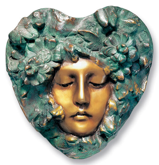 Art nouveau relief 'Titania', version in bronze