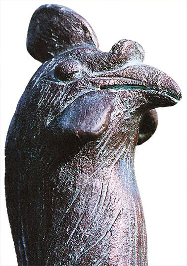 "Günter Grass: Skulptur ""Der Gockel"", Bronze"