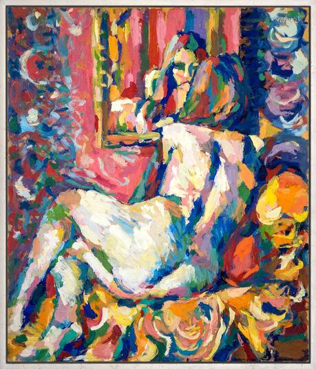 """Theodor Gerkens: Bild """"Akt vorm Spiegel"""" (1983) (Unikat)"""