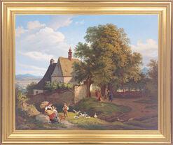 """Bild """"St.-Annen-Kirche zu Graupen in Böhmen"""" (1836), gerahmt"""