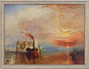 "Painting ""The Fighting Temeraire"" (1838/39) in a frame"