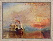 """Bild """"Die letzte Fahrt der Temeraire"""" (1838/39), gerahmt"""