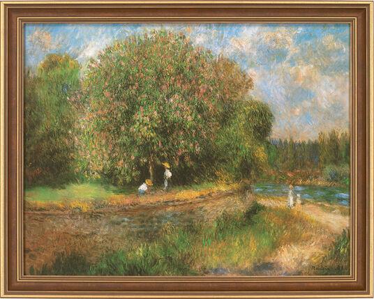 """Auguste Renoir: Bild """"Blühender Kastanienbaum"""", 1881, gerahmt"""