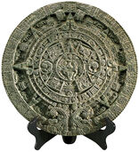 "Replica ""Calendar stone Aztec"", (reduction), Art casting"