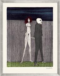 """Bild """"Maler und Modell"""" (2001), gerahmt"""