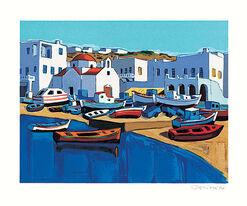 """Bild """"Le port de Mykonos"""" (2001), ungerahmt"""