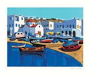 "Bild ""Le port de Mykonos"" (2001), gerahmt"