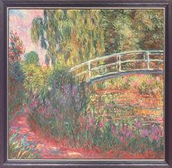 """Bild """"Japanische Brücke im Garten von Giverny"""", gerahmt"""