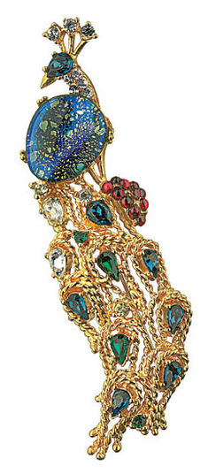 Peacock brooch - by Louis C. Tiffany